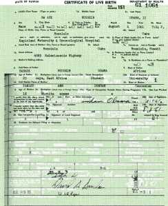 Obama birth certificate altered