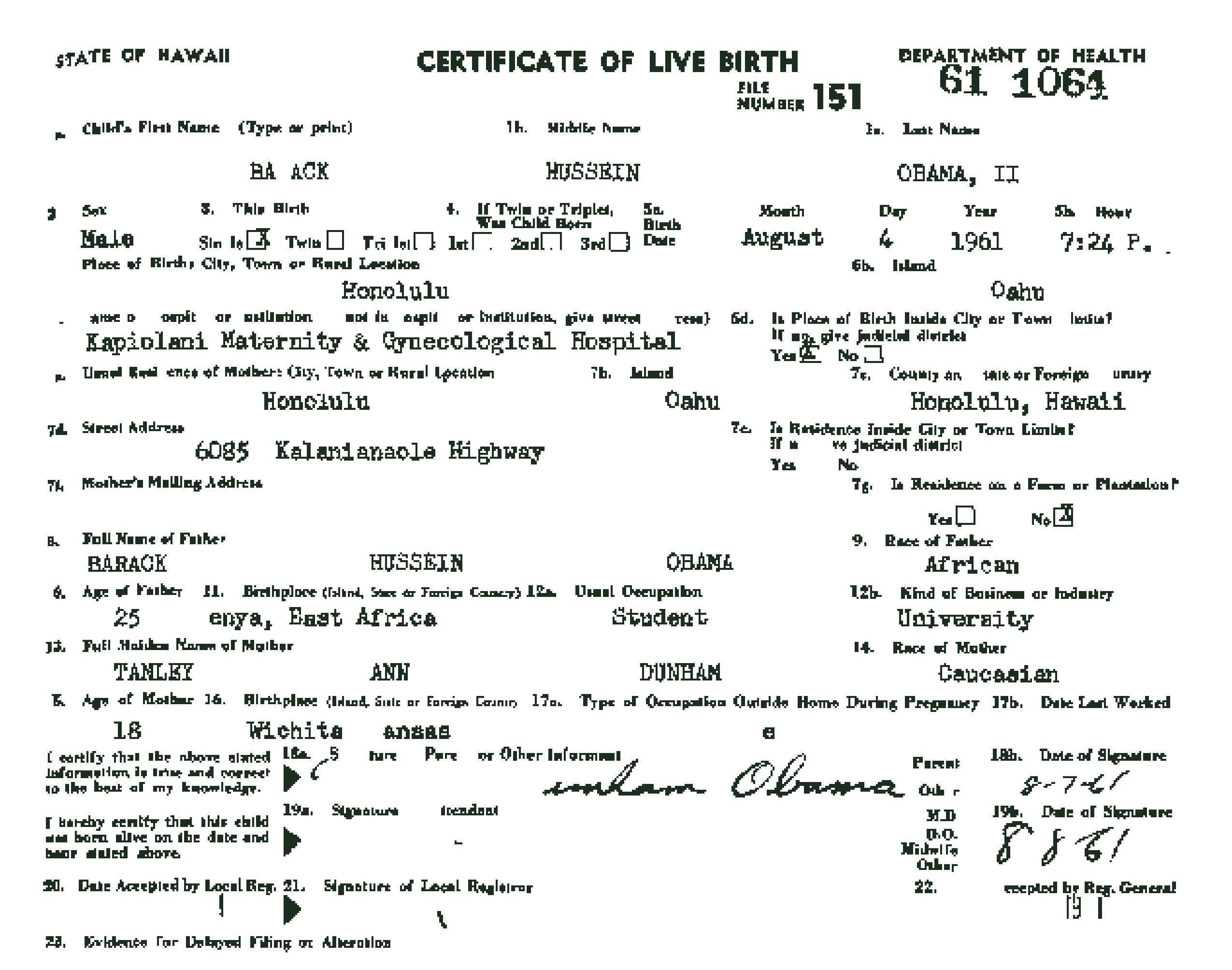 The real truth about obamas certificate of live birth h2ooflife obama birth certificate altered aiddatafo Images