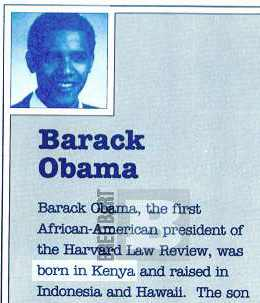 "Publisher's Bio for Kenyan-born ""author"" Barack Obama"