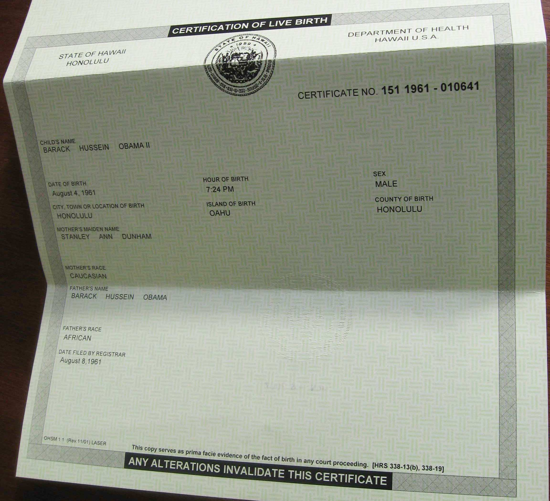 Beheading obamas bogus birth certificates pt2 h2ooflife birthcertificate3c aiddatafo Gallery